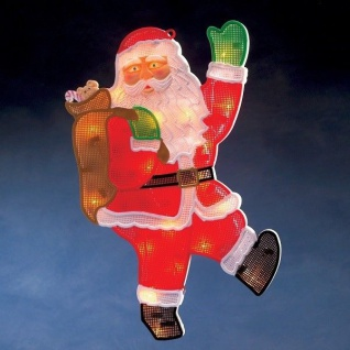 LED Fensterbild Fenstersilhouette Weihnachtsmann Konstsmide 2850-010 xmas