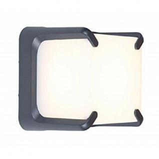 LED Alu Außenwandleuchte AMOR anthrazit 15x15x12, 5cm Lutec 6166GR Eco-Light