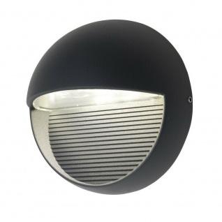 LED Alu Außenwandleuchte RADIUS anthrazit 16, 5x16, 5x9cm Lutec 1865-GR Eco-Light