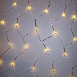 LED Lichternetz 160er warmweiß 1, 9x1, 2m Kabel transparent außen BA11757 xmas