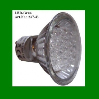 LED Leuchtmittel 230V 1W grün GU10 mit Reflektor Best Season 347-43