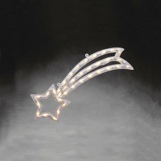LED Fensterbild Fenstersilhouette Komet 55x22cm Konstsmide innen 2160-010 xmas