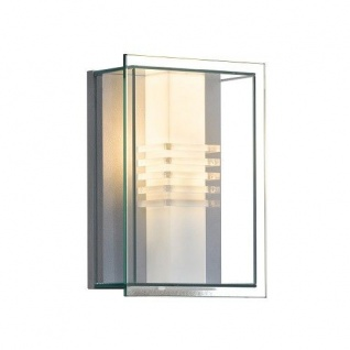 Alu Wandleuchte SOL silber mit klarem Glas Konstsmide 409-310