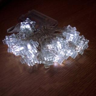 LED Lichterkette Schneeflocke weiß 20er Batteriebetrieb BI11563-3 - Vorschau