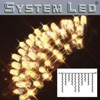 System LED Eisregen-Lichterkette Extra 2x1m 100er warmweiß/schwarz 465-36
