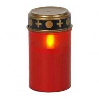 LED Grableuchte Grablicht Grabkerze Serene 12x7cm rot 6/18h Timer 064-82