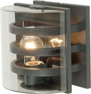 Alu Außenwandleuchte DELTA anthrazit 21x21x17, 5cm 1838-GR Eco-Light