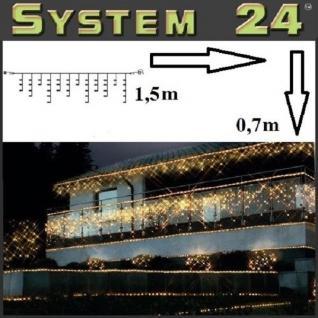 System 24 LED Lichtervorhang 42er extra 1, 5x0, 7m warmweiß 491-93 außen xmas