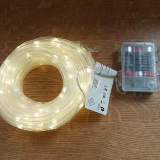 LED Mini-Lichtschlauch 10m 5mm warmweiß Timer Batterie Fernbedienung BA11264