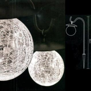 LED Solarleuchte Solarlampe Glaskugel 12cm warmweiße LED außen JFS001