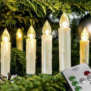 LED Weihnachtsbaumbeleuchtung Kabellos Dimmer Timer Flacker 20er 19624-20