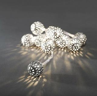 LED Dekolichterkette 10er 1, 2m Silberkugel Konstsmide 3188-303