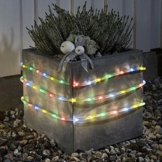 LED Lichtschlauch 3m multicolor Batterie / Timer Konstsmide 3743-500 xmas