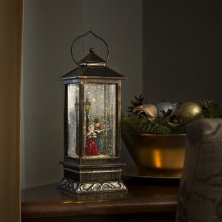 LED Schneelaterne Charles Dickens wassergefüllt Timer Konstsmide 2864-000 xmas