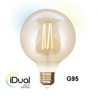 iDual LED Leuchtmittel Filament E27 G95 amber dimmbar 806lm 9W exkl. FB Vintage