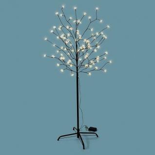LED Lichterbaum 96 Blüten 150cm Batterie Timer außen warmweiß BA11635 xmas