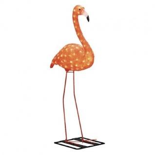 LED Acryl Flamingo stehend 48 Dioden bernsteinfarben außen 65cm 6272-803