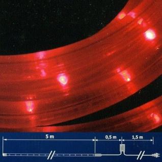 LED Lichtschlauch Lichterschlauch 5m Blinkfunktion rot NLED05R