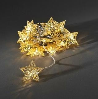 LED Deko Lichterkette goldene Sterne16er innen 1, 8m Konstsmide 3171-803