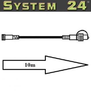 System 24 LED Verlängerungskabel 10m extra schwarz Best Season 490-32 außen xmas