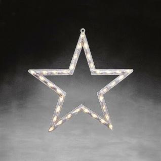 LED Fensterbild Fenstersilhouette Stern 50x48cm Konstsmide innen 2164-010 xmas