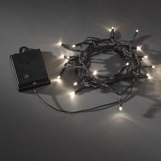 LED Lichterkette 20er Batt. warmweiss Timer 6 / 9 Std. aussen 3722-100