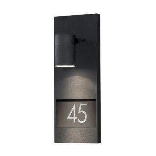Aluminium Hausnummern-Leuchte schwarz Konstsmide 7655-750