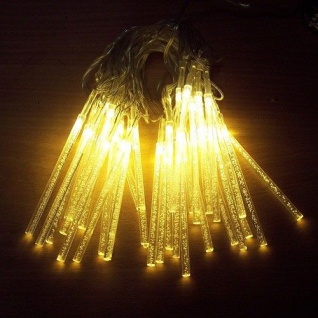 LED Lichterkette Leuchtstäbe 30er warmweiß Kabel transparent BA11426