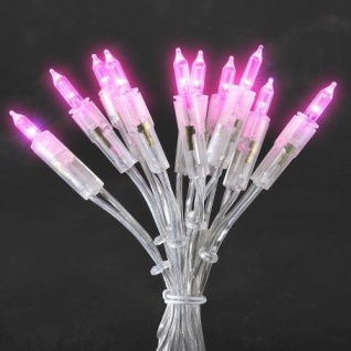 LED Mini-Lichterkette 35er rosa 5, 10m Konstsmide 6302-343