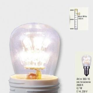 Decoline LED Glühbirne E14 2600K 60lm 230V warmweiß Leuchtmittel 360-16