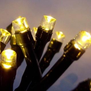 LED Lichterkette 100er warmweiß Kabel grün 10m aussen BA11694 xmas