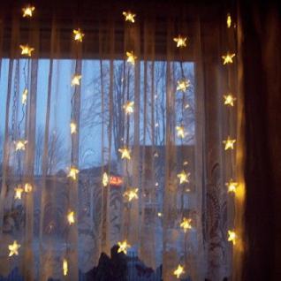 LED Lichtervorhang 20 Sterne Dauerlicht 10 blinkend 90x120cm warmweiß 2006-71
