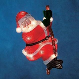 LED Fensterbild Fenstersilhouette kletternder Weihnachtsmann Konstsmide 2856-010