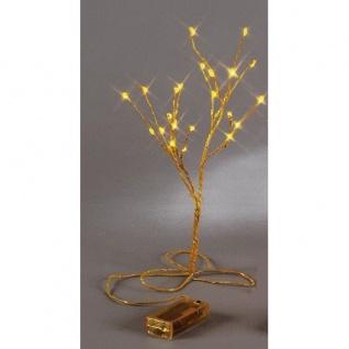 LED Minitree 30 x 15 cm gelb Batteriebetrieb Best Season 725-50