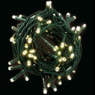 LED Lichterkette 600er warmweiß / grün 60m außen LK021WG xmas