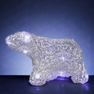 LED Eisbär gehend Christal lights Batteriebetrieb weiss 006-02