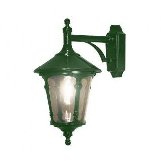 Alu Wandleuchte VIRGO grün mit Acrylglas Handmade E27 down Konstsmide 568-600