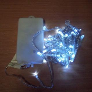50er LED Lichterkette 4, 9m kaltweiß Batterie / Timer außen BA11463 xmas
