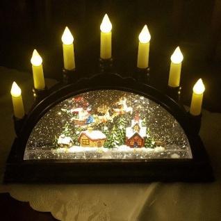 LED Kerzenleuchter Weihnachtsmann im Schlitten wassergefüllt Peha PT-22155