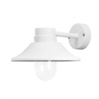 LED High Power Wandleuchte VEGA Alu weiß außen mit klarem Glas 412-250