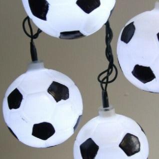 LED Fußball Party-Lichterkette 50er 12, 25m außen / innen Deko IP44 FHS 11598