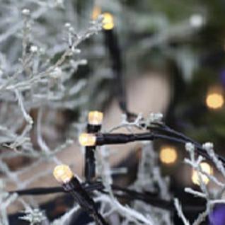 LED Lichterkette 160er 16m warmweiß / schwarz Best Season 498-36