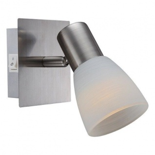 Globo LED Strahler PARRY I 1-flammig 400lm 3000K Nickel matt Glas 54534-1