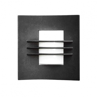 Alu Wandleuchte IDUN schwarz opales Acrylglas Konstsmide 508-752