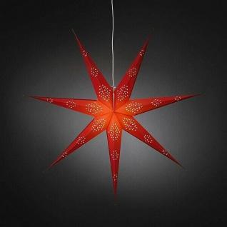 Weihnachtsstern 90cm rot perforiert weißes Kabel mit Schalter innen 2978-500