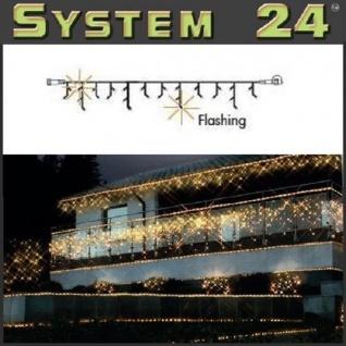 System 24 LED Flash-Eisregen-Lichterkette 49er warmweiß 491-14 außen xmas