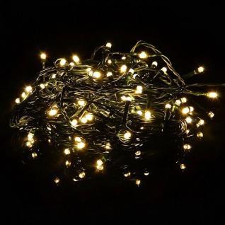 LED Timer Lichterkette FB dimmbar 100er warmweiß / grün 9, 9m außen BA11223 xmas