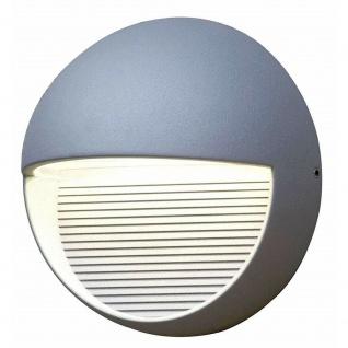 LED Alu Außenwandleuchte RADIUS silber 16, 5x16, 5x9cm Lutec 1865-SI Eco-Light