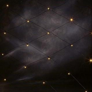 LED Lichternetz 160er gelb / schwarz 1, 5x2m außen Konstsmide 3752-000 xmas
