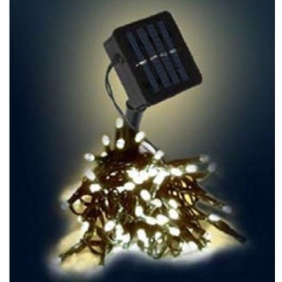 LED Solar-Lichterkette 100er warmweiß / grün LK201W